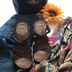 Dansko Frida Sandals - Brown 40 -
